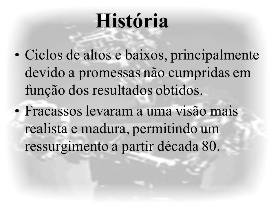 IA no Brasil Fracamente representada nas graduações em computação –no máximo, 1 disciplina obrigatória, –no melhor dos casos, depois do sexto período, –Ementa restrita e desatualizada.