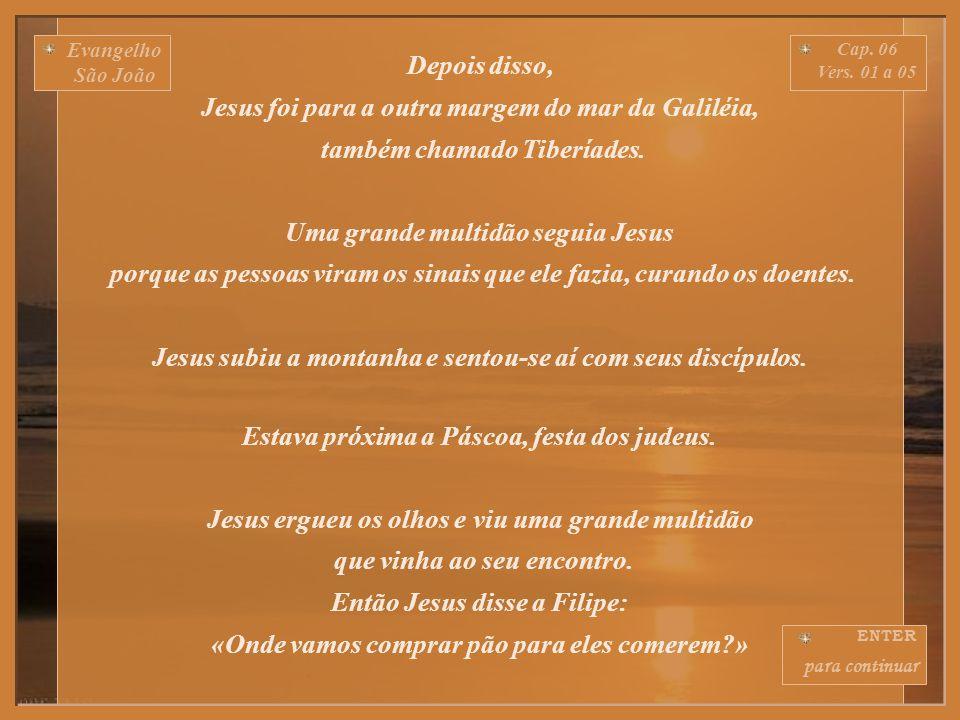 Evangelho São João Cap. 06 Vers. 01 a 71 ENTER para continuar