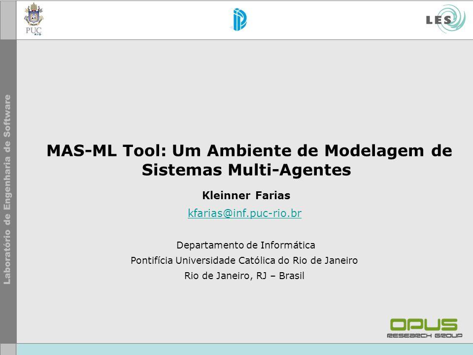 MAS-ML Tool: Um Ambiente de Modelagem de Sistemas Multi-Agentes Kleinner Farias kfarias@inf.puc-rio.br Departamento de Informática Pontifícia Universi