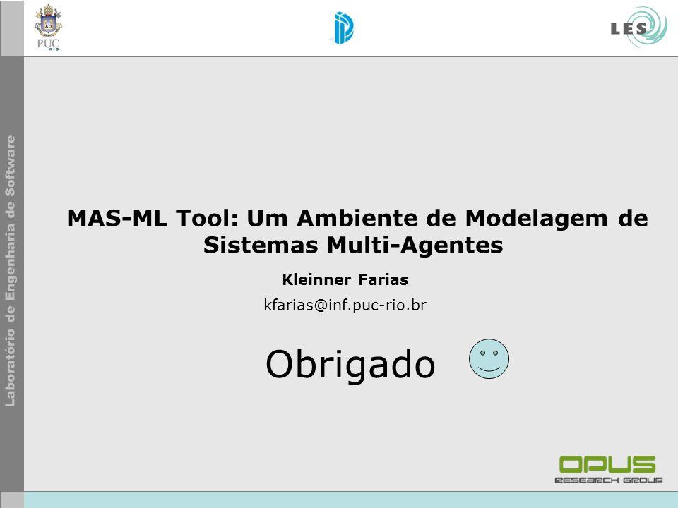 MAS-ML Tool: Um Ambiente de Modelagem de Sistemas Multi-Agentes Kleinner Farias kfarias@inf.puc-rio.br Obrigado