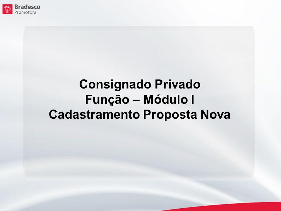 Cadastramento de nova proposta Clique em Cadastre suas Propostas.