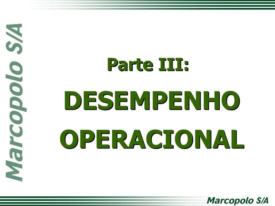 Parte III: DESEMPENHO OPERACIONAL Parte III: DESEMPENHO OPERACIONAL