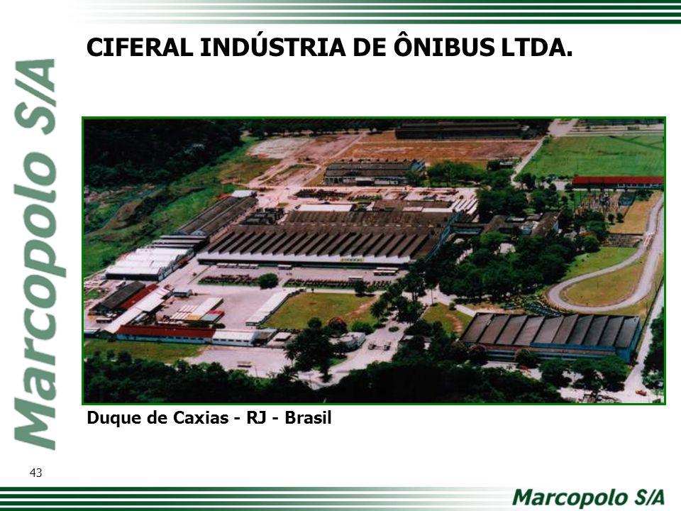 CIFERAL INDÚSTRIA DE ÔNIBUS LTDA. Duque de Caxias - RJ - Brasil 43