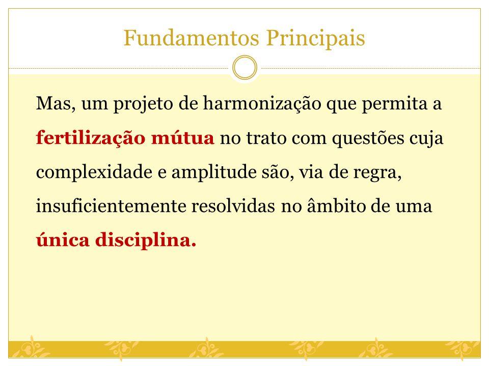 Fundamentos Principais Mas, um projeto de harmonização que permita a fertilização mútua no trato com questões cuja complexidade e amplitude são, via d