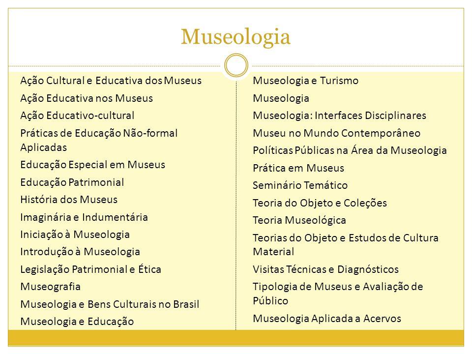 Museologia Ação Cultural e Educativa dos Museus Ação Educativa nos Museus Ação Educativo-cultural Práticas de Educação Não-formal Aplicadas Educação E