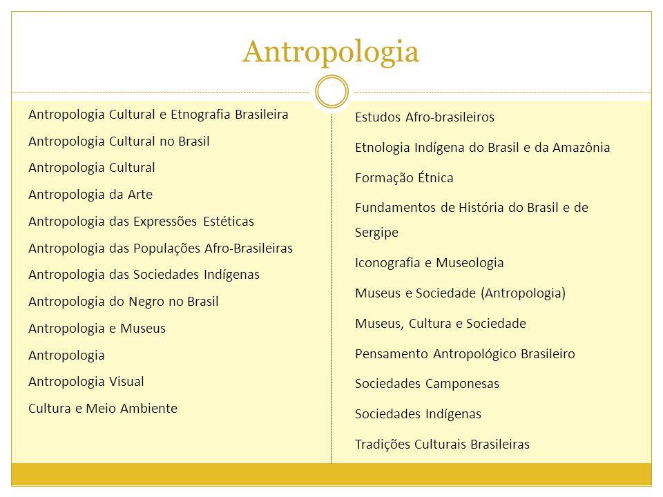 Antropologia Antropologia Cultural e Etnografia Brasileira Antropologia Cultural no Brasil Antropologia Cultural Antropologia da Arte Antropologia das