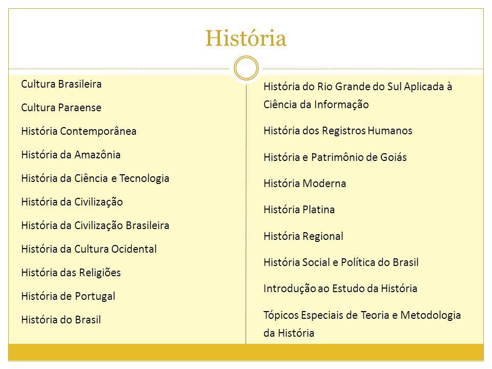 História Cultura Brasileira Cultura Paraense História Contemporânea História da Amazônia História da Ciência e Tecnologia História da Civilização Hist