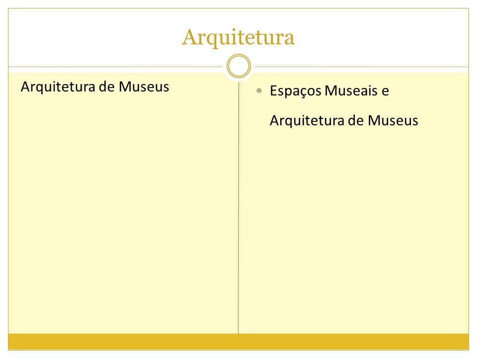 Arquitetura Arquitetura de Museus Espaços Museais e Arquitetura de Museus