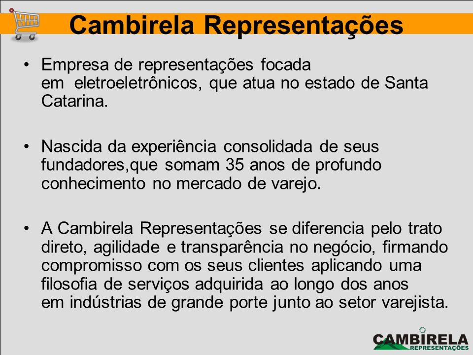 Empresa de representações focada em eletroeletrônicos, que atua no estado de Santa Catarina. Nascida da experiência consolidada de seus fundadores,que