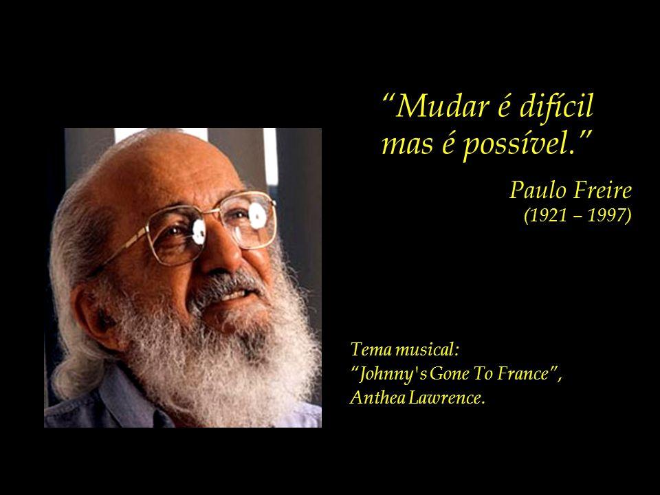 Mudar é difícil mas é possível. Paulo Freire (1921 – 1997) Projeto Compaixão e Cidadania Um espaço para refletirmos sobre temas essenciais. compaixao_
