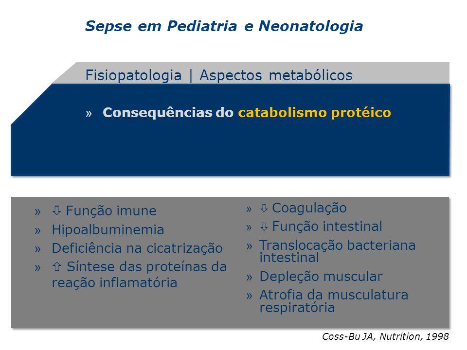 Sepse em Pediatria e Neonatologia » Consequências do catabolismo protéico Fisiopatologia | Aspectos metabólicos Coss-Bu JA, Nutrition, 1998 » Função i