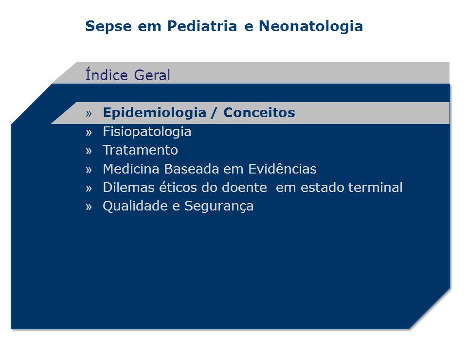 Sepse em Pediatria e Neonatologia Tratamento Reserva orgânica funcional Lesões associadas Intensidade e duração do choque CHOQUESDOM ÓBITO Hipoperfusão celular