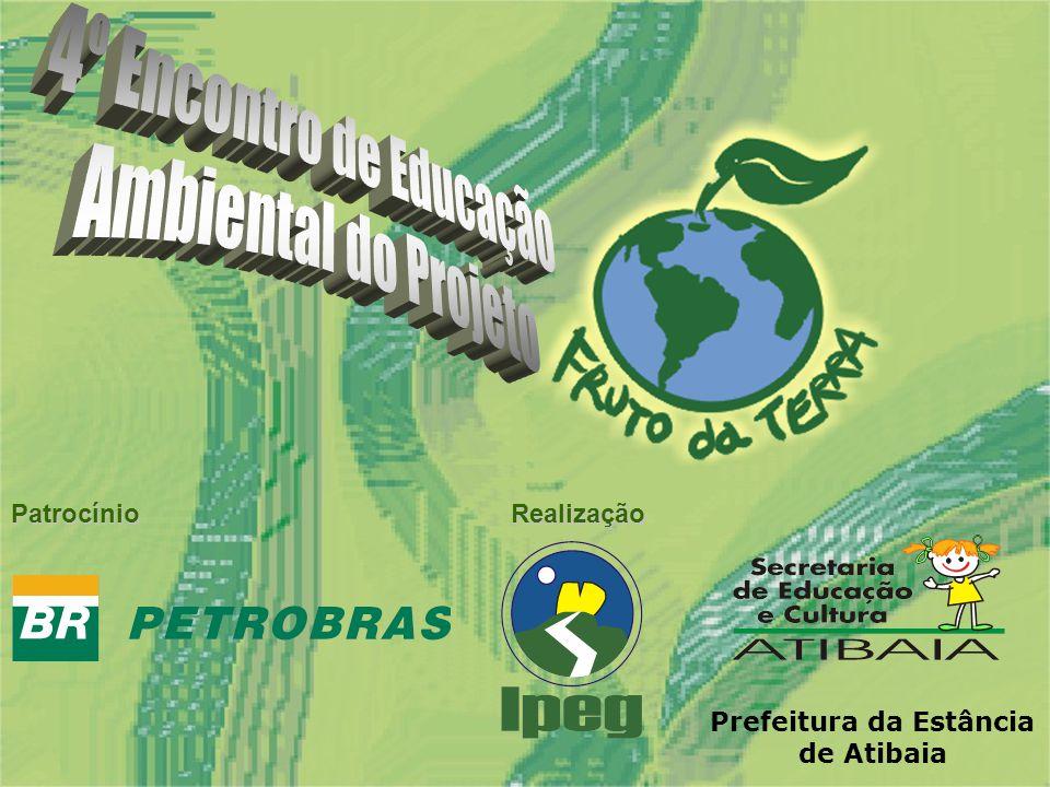 Design: Pedro SantAnna 4º Encontro de Educação Ambiental do Projeto PatrocínioRealização Prefeitura da Estância de Atibaia
