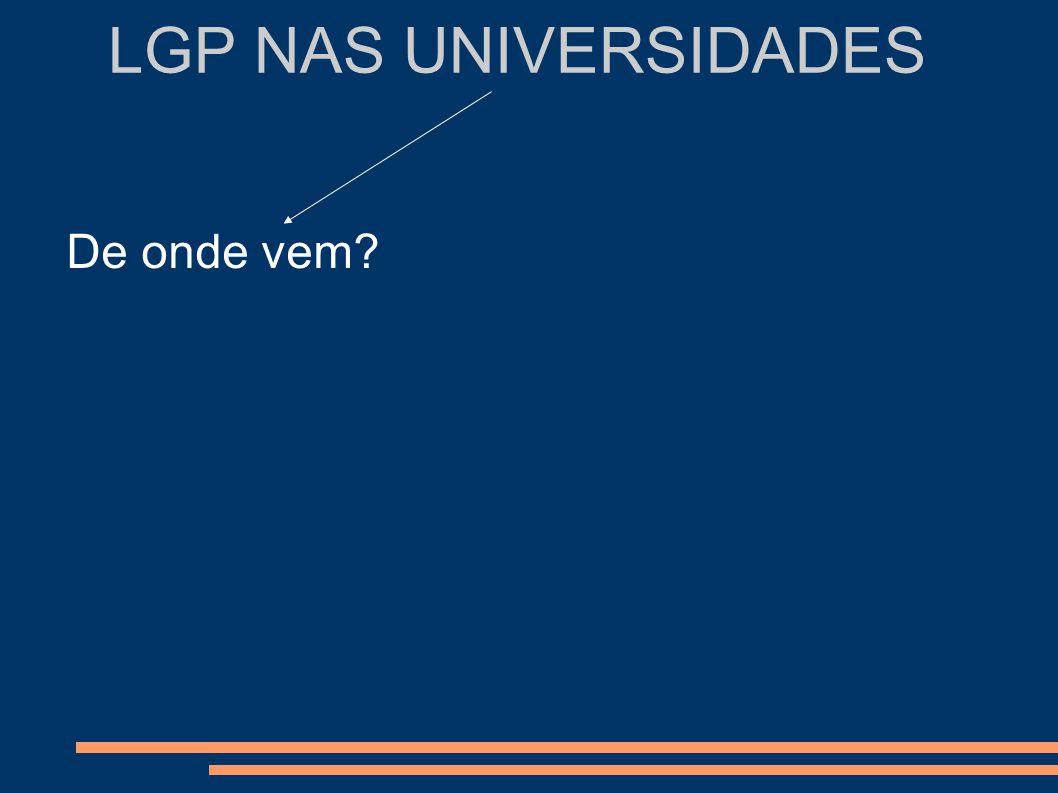 LGP NAS UNIVERSIDADES Comunidade Surda Comunidade científica E a qualidade.