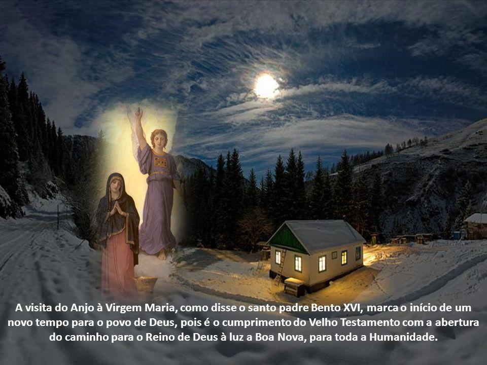 A festa da Anunciação do Anjo Gabriel à Virgem Maria é comemorada desde o Século V, no Oriente e a partir do Século VI, no Ocidente, nove meses antes