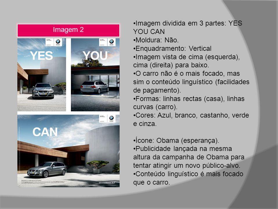 Imagem 2 Imagem dividida em 3 partes: YES YOU CAN Moldura: Não. Enquadramento: Vertical Imagem vista de cima (esquerda), cima (direita) para baixo. O