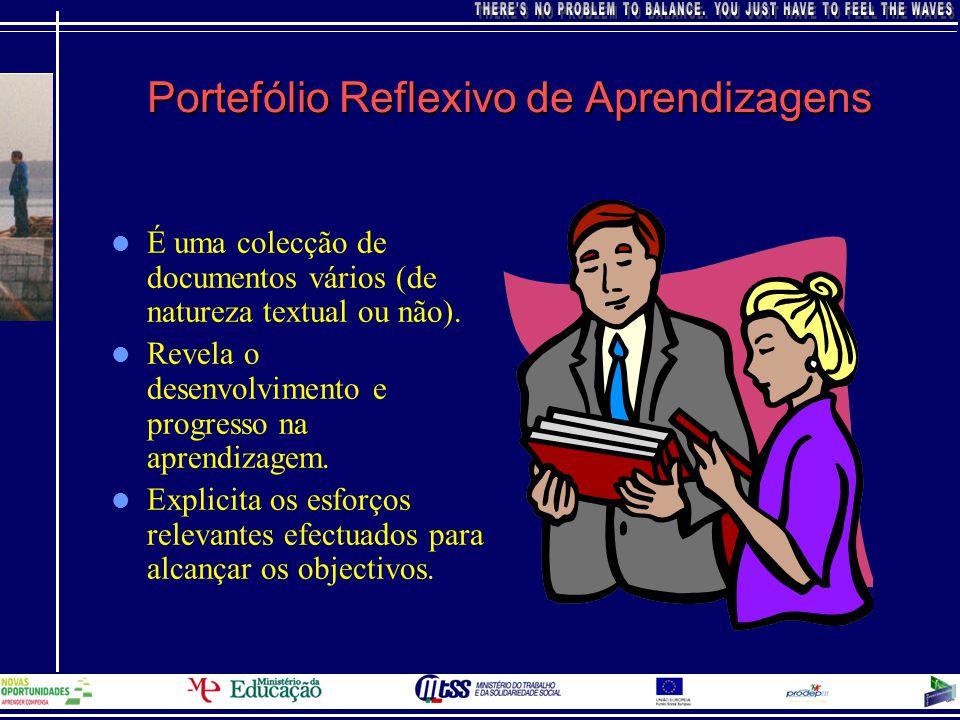 Portefólio Reflexivo de Aprendizagens Documenta experiências significativas.