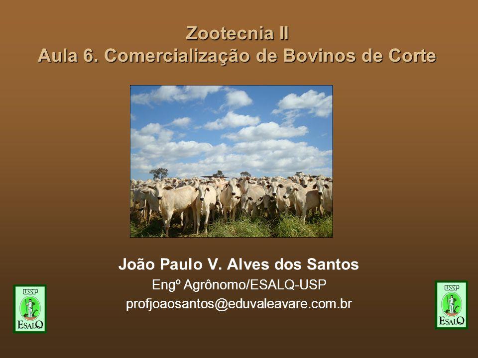 Zootecnia II Aula 6.Comercialização de Bovinos de Corte João Paulo V.