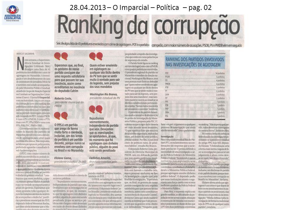 28.04.2013 – O Imparcial – Política – pag. 02