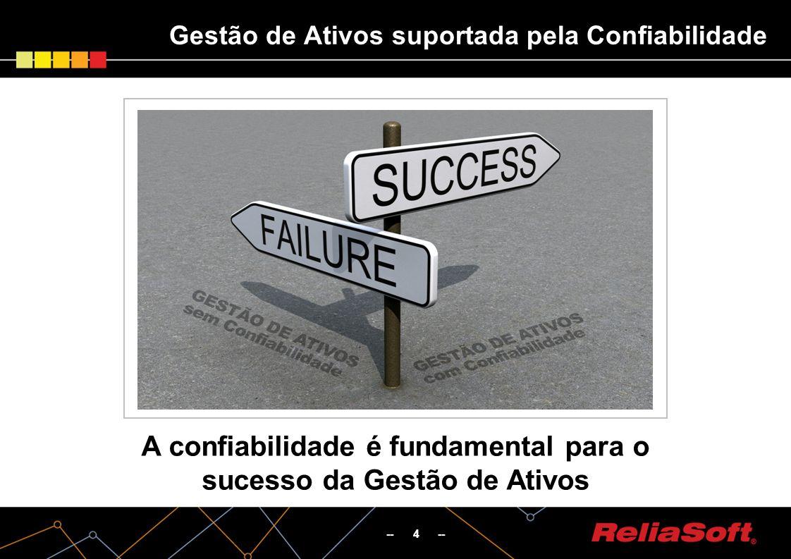 -- 4 -- Gestão de Ativos suportada pela Confiabilidade A confiabilidade é fundamental para o sucesso da Gestão de Ativos