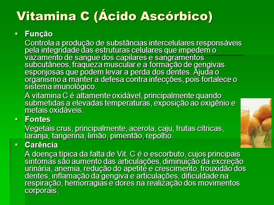 Niacina (Ácido nicotínico) ou Vitamina PP Funções Funções Essencial para uma pele saudável.
