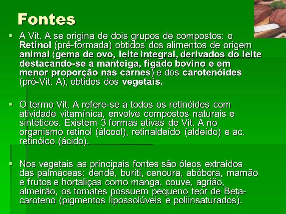 Curiosidades As cenouras, por serem vegetais, não possuem retinol, elas contém uma grande quantidade de beta-caroteno, pigmento, que está presente em frutas amarelas, vermelhas e alaranjadas.
