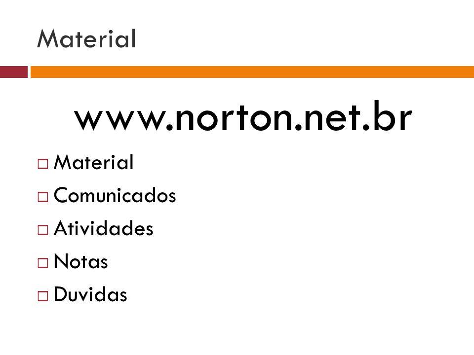 Material www.norton.net.br Material Comunicados Atividades Notas Duvidas