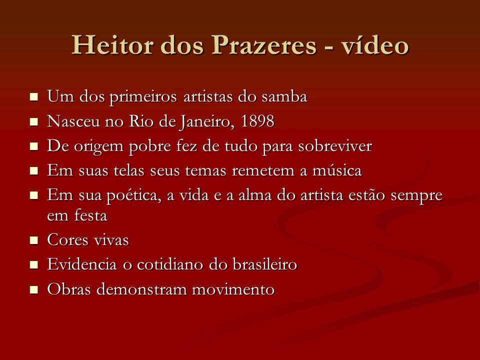 Heitor dos Prazeres - vídeo Um dos primeiros artistas do samba Um dos primeiros artistas do samba Nasceu no Rio de Janeiro, 1898 Nasceu no Rio de Jane
