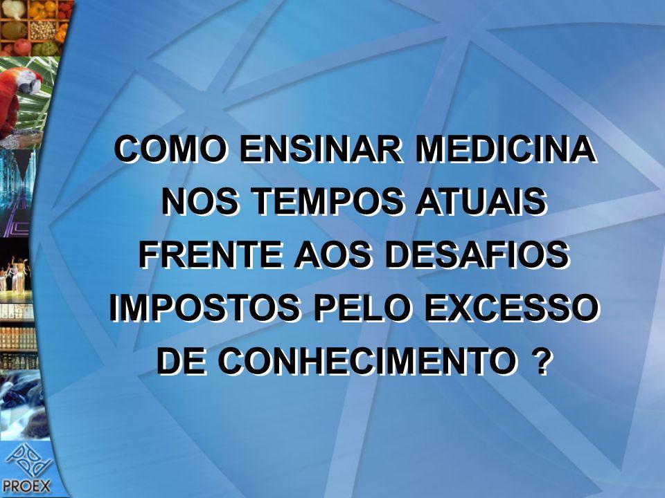 COMO ENSINAR MEDICINA NOS TEMPOS ATUAIS FRENTE AOS DESAFIOS IMPOSTOS PELO EXCESSO DE CONHECIMENTO ?