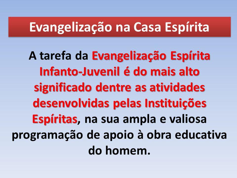 Evangelização na Casa Espírita Evangelização Espírita Infanto-Juvenil é do mais alto significado dentre as atividades desenvolvidas pelas Instituições