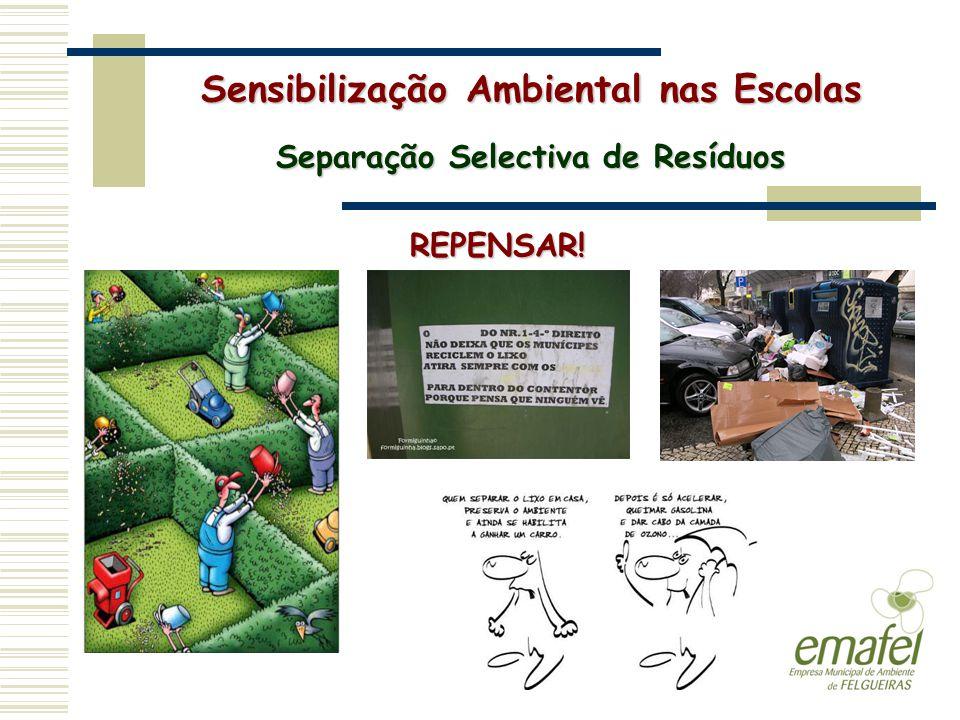 Sensibilização Ambiental nas Escolas Separação Selectiva de Resíduos REPENSAR!