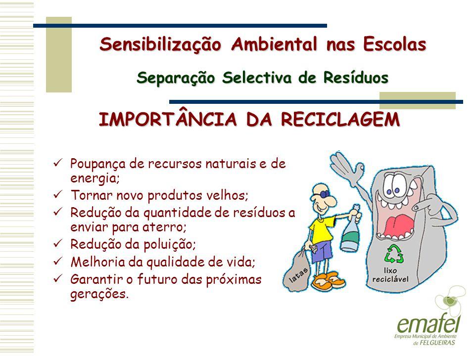 Poupança de recursos naturais e de energia; Tornar novo produtos velhos; Redução da quantidade de resíduos a enviar para aterro; Redução da poluição;
