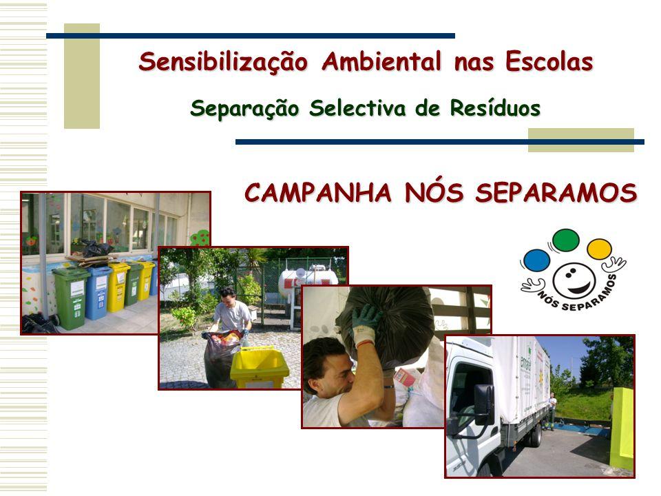 CAMPANHA NÓS SEPARAMOS Sensibilização Ambiental nas Escolas Separação Selectiva de Resíduos