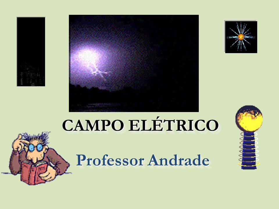 A figura abaixo representa uma partícula de carga igual a 2.10 -8 C, imersa, em repouso, num campo elétrico uniforme de intensidade E = 3.10 -2 N/C.