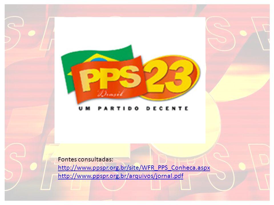 Fontes consultadas: http://www.ppspr.org.br/site/WFR_PPS_Conheca.aspx http://www.ppspr.org.br/arquivos/jornal.pdf