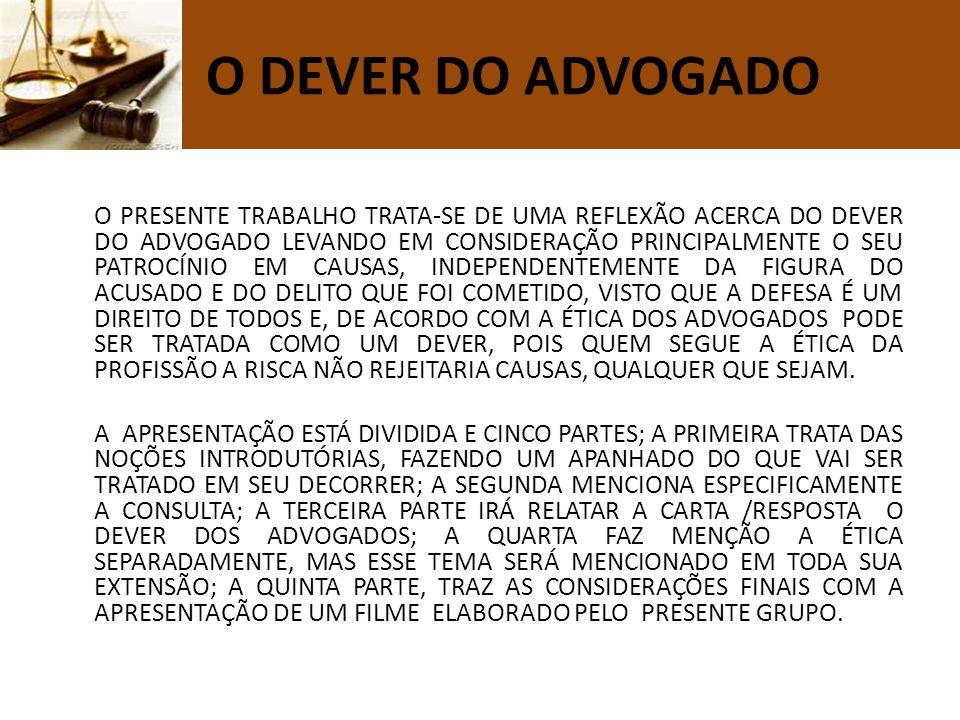 A ORDEM LEGAL MANIFESTA-SE POR DUAS EXIGÊNCIAS ACUSAÇÃO DEFESA