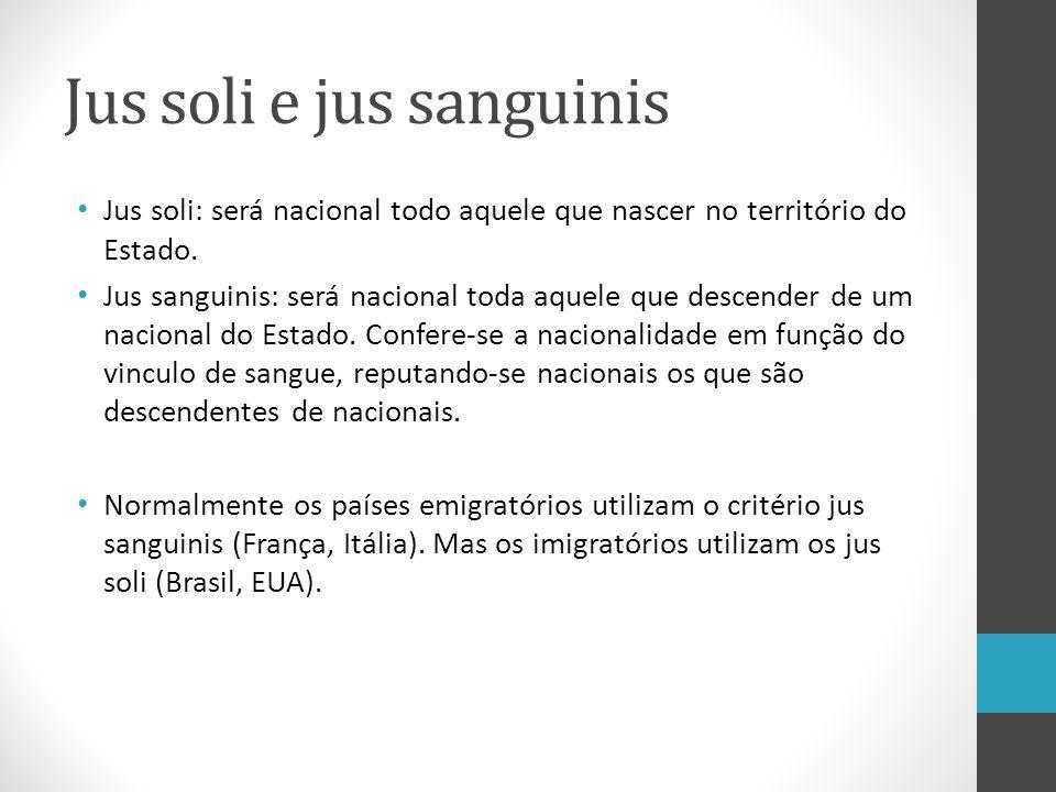 Derivada ou Secundária Nacionalidade adquirida Naturalização.