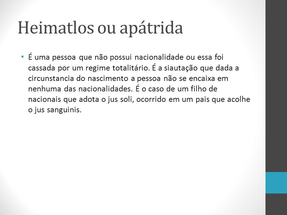 Como evitar isso.Relativização Hipóteses de Brasileiros Natos (art.