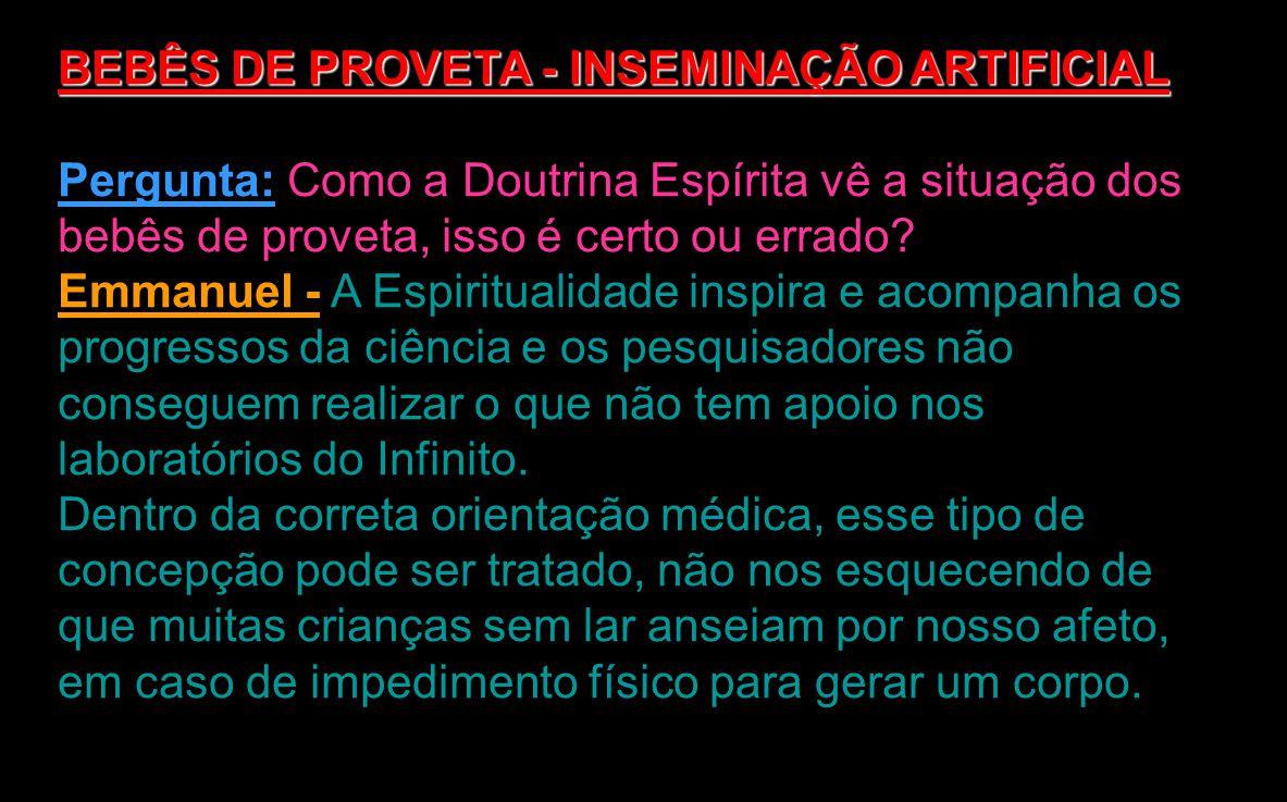 INSEMINAÇÃO ARTIFICIAL BEBÊS DE PROVETA