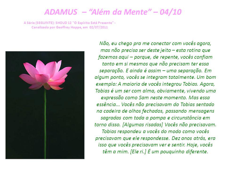 ADAMUS – Além da Mente – 03/10 A Série (SEGUINTE): SHOUD 12 O Espírito Está Presente - Canalizado por Geoffrey Hoppe, em 02/07/2011 Elas ficam presas no cérebro.