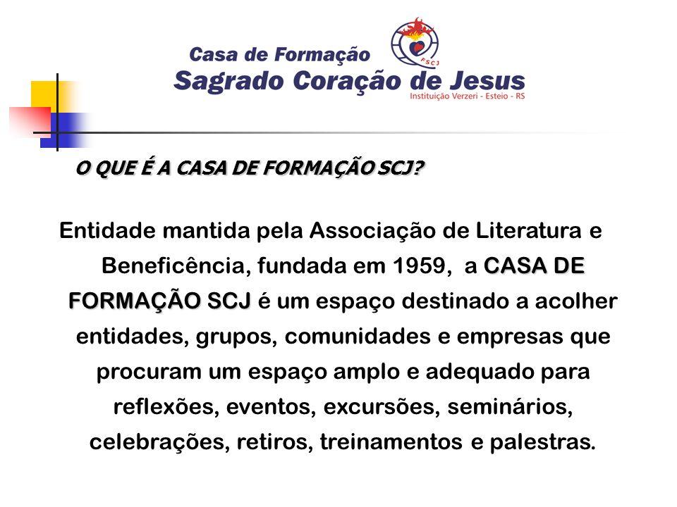O QUE É A CASA DE FORMAÇÃO SCJ.