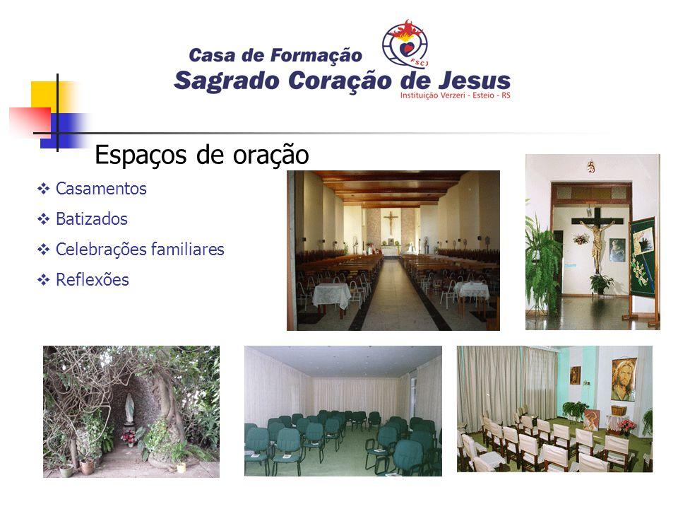 Espaços de oração Casamentos Batizados Celebrações familiares Reflexões