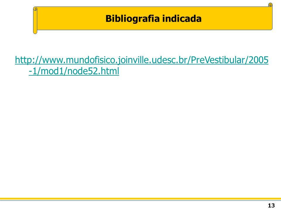 13 Bibliografia indicada http://www.mundofisico.joinville.udesc.br/PreVestibular/2005 -1/mod1/node52.html