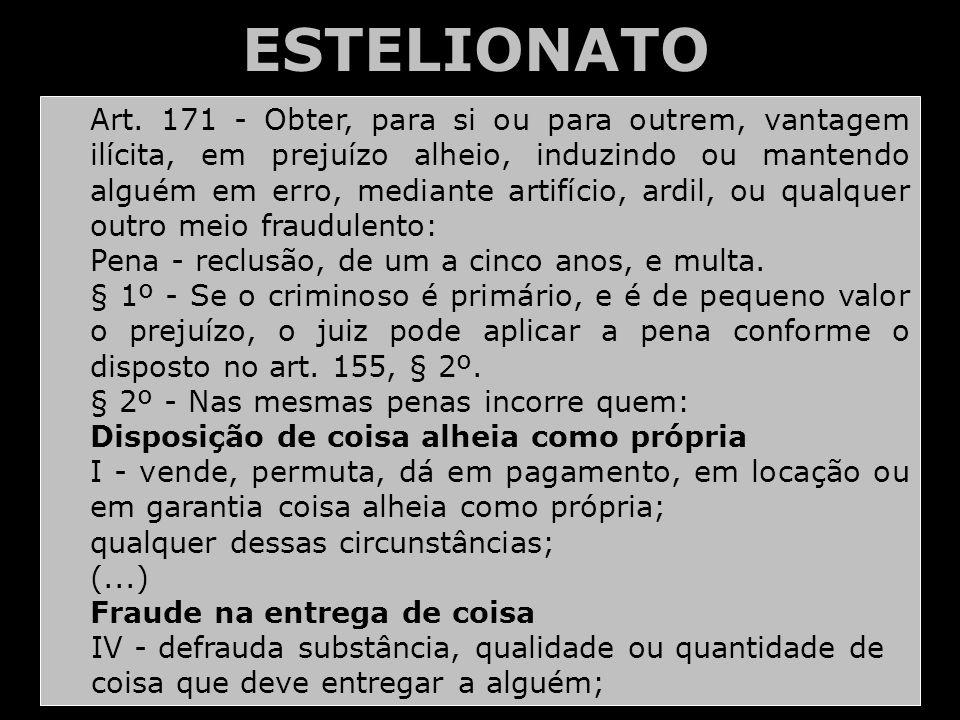 ESTELIONATO Art.
