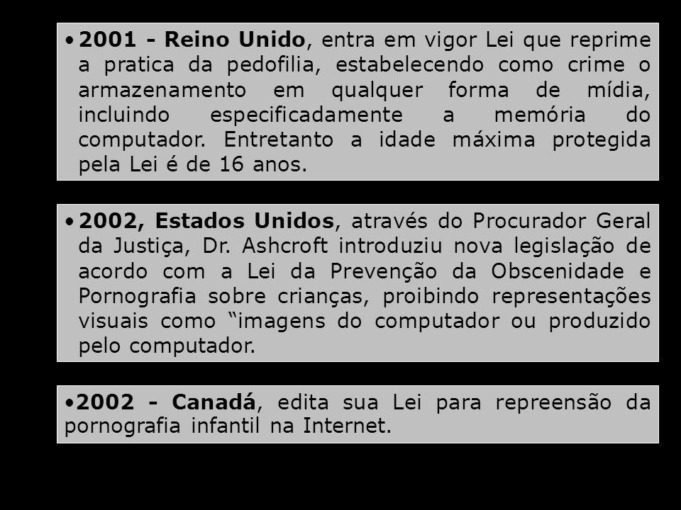 2002, Estados Unidos, através do Procurador Geral da Justiça, Dr. Ashcroft introduziu nova legislação de acordo com a Lei da Prevenção da Obscenidade