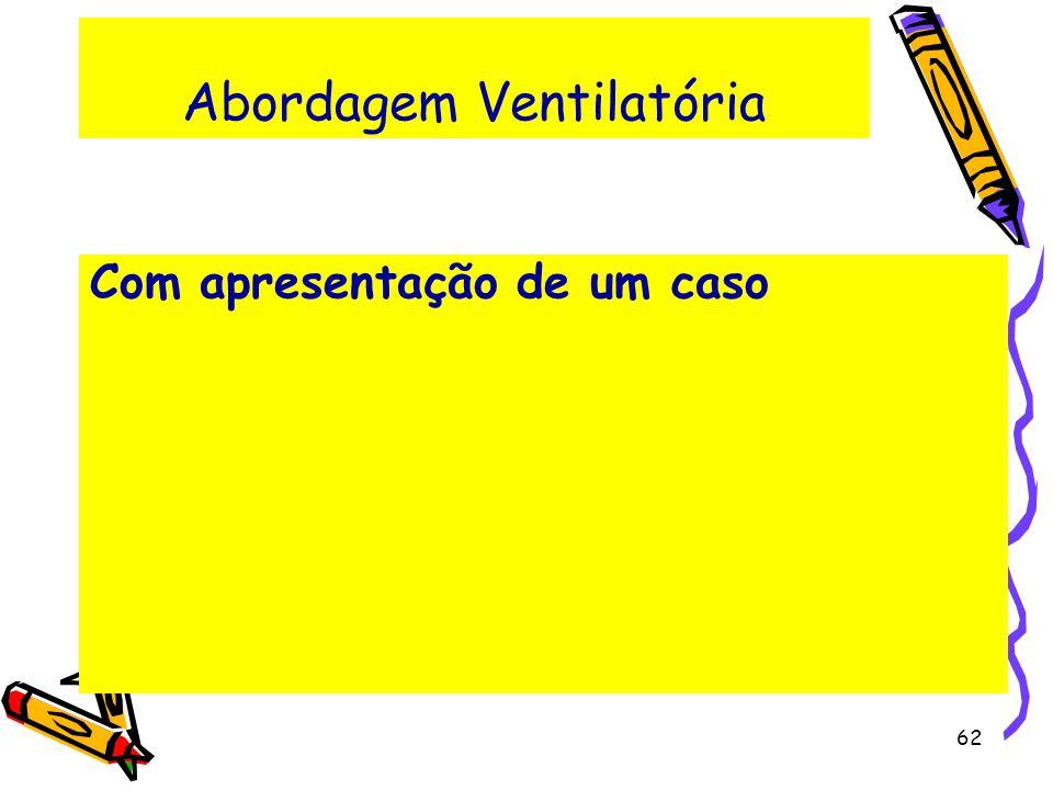 Abordagem Ventilatória Com apresentação de um caso 62