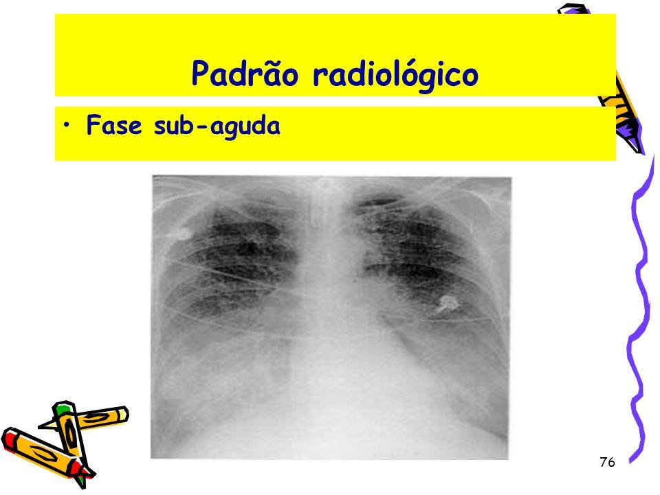 Padrão radiológico Fase sub-aguda 76