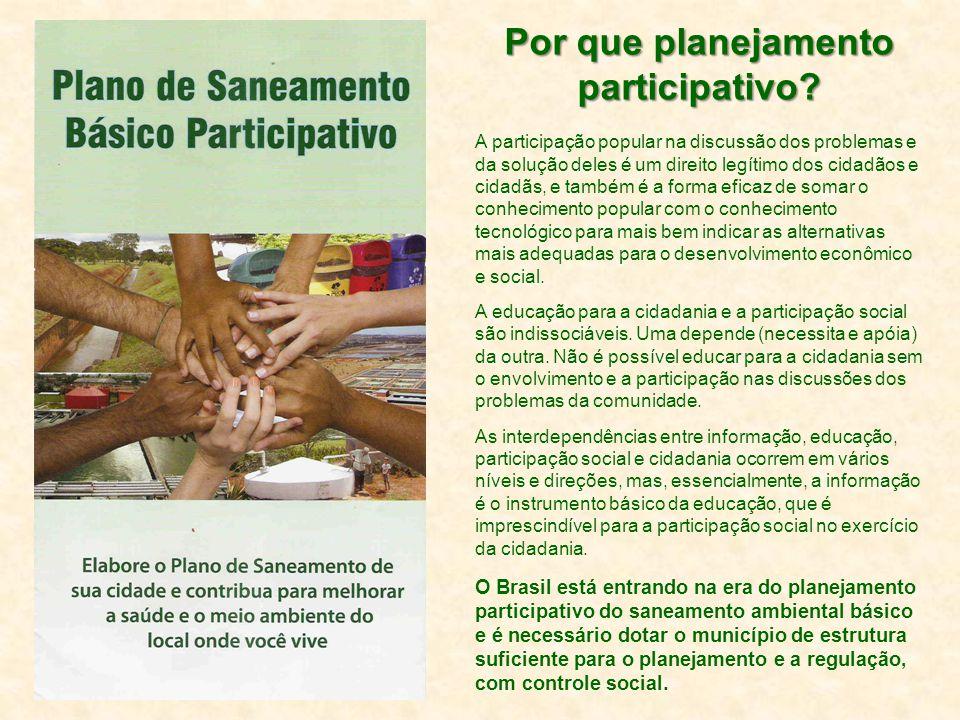 Por que planejamento participativo.