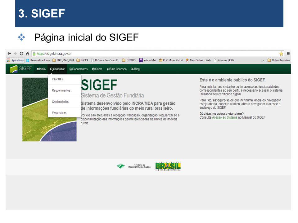 3. SIGEF Requerer certificação (Parte I)