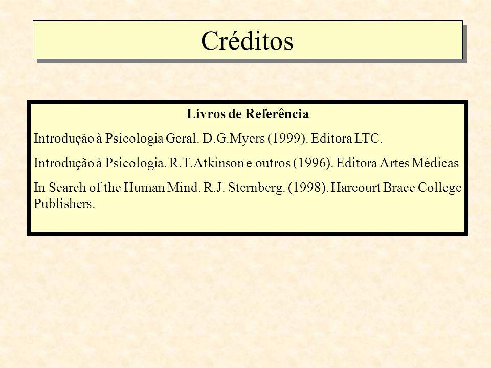 Créditos Livros de Referência Introdução à Psicologia Geral.
